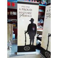 Quality Aluminum Pull Up Retractable Display Banners Digital Printing for sale