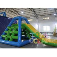 China Heat Sealed Giant Inflatable Floating Slide Inflatable Water Park CE / EN14960 wholesale