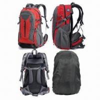 China Mountain Bag with Ice Axe Attachment Holder, Iron-mesh Backing System and Rain Cover Bottom on sale