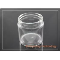 Quality 130ml Glass Storage Jars Clear Glass Bottles With Corks / Stopper for Foods for sale