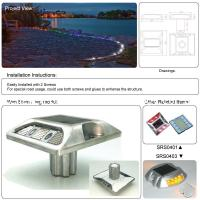 Solar Road Reflectors Aluminum Shell IP68 Waterproof CE RoHS Approved Customizable With Stem