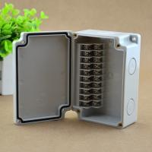 China IP65 Waterproof Junction Box 110*75*43mm Terminal Blocks Electric Enclosure 10 Ways wholesale