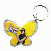 China Promotional acrylic keyrings, customized sizes and shapes are accepted wholesale