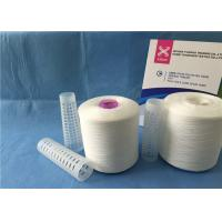 China High Tenacity Z/S Twist Raw White Yarn 100% Polyester Sewing Thread on sale