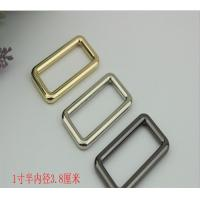 China Wholesale manufacturing zinc alloy 11/2 inch gold metal square o ring for handbag hardware and fitting on sale