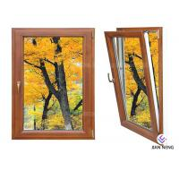 China Inward Tilt Turn Aluminium Windows And Doors Wooden Color With Powder Coating on sale
