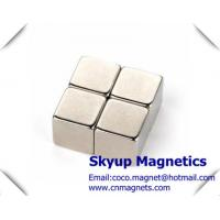 Cube permanent Neodymium Strong Magnets used in Electronics and small motors ,with ISO/TS certification