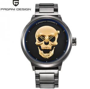 China PAGANI DESIGN Men Casual Skull Dial Full Steel Quartz Wrist Watch Men Sport Watches  PD-1362 wholesale