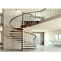 China Apartment Interior Wrought Iron Spiral Staircase House / Office Application wholesale