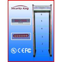 China Electrical Walk Thru Metal Detectors with Six Detecting Zones EB50082 Anti Inference wholesale