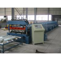 Mitsubishi PLC Metal Cold Roll Forming Equipment For Deck , Roll Forming Line