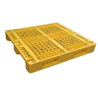 China Three Runner Single Faced Edge Stackable Plastic Euro Pallet Price wholesale