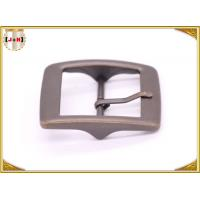 Buy cheap Plain Design Brass Plated Metal Belt Buckle , Central Bar Buckle with Pin from wholesalers