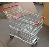 China Metal Supermarket Rolling Shopping Carts Chrome Plating 90L With Baby Seat on sale