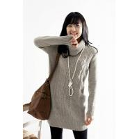 Buy cheap lady cotton sweater,women knitted sweater,long sweater LYC890368 from wholesalers