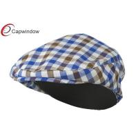 China Brown Blue Boy's Plaid Driving Ivy Fitted Baseball Hat with Polyester wholesale