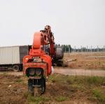 China VH250 Vibrating Hydraulic Post Automatic nozzle Driver Piling Machine Mini Excavator concrete Pile Driver wholesale