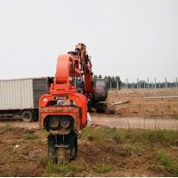 China High-speed excavator mounted hydraulic vibro steel sheet pile driver for 320C excavator wholesale