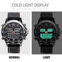 Quality Smael Men Multifunction Dual Time Travel Alloy Pu Strap Chronograph Waterproof for sale