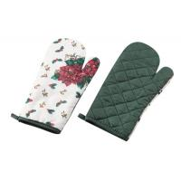 China Kitchen Heat Protection Oven Mitt oven glove new style printed colour wholesale