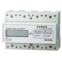 China Three Phase Four Wires Din Rail Watt Hour Meter , Electronic KWH Meter wholesale