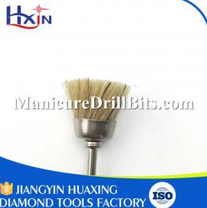 Lightweight Nail Drill Bit Cleaning Brush , Rotary Tool Polishing Bits Antibacterial