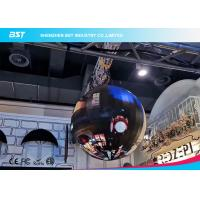 China HD 1080P Flexible LED Video Screen Display , Ball Type LED Curved Display on sale