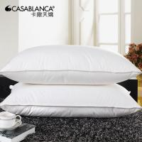 China Natural Comfort Down Pillow Inserts , Home / Hotel Sleep Peacefully Plump Pillow wholesale