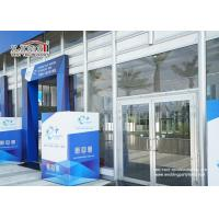 China Transparent Outdoor Exhibition Tents Heat Resistant Glass Wall wholesale