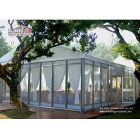China 25 x 40 Meter White Color Glass Outdoor Party Tents For 1000 People Wedding wholesale