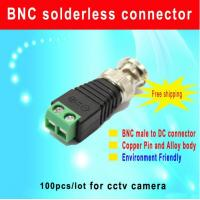 China CAT5 to BNC Coaxial Male connector BNC male to DC CCTV ACCESSARIES wholesale