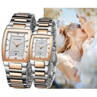 China CADISEN High Quality  Full Steel  Lovers Quartz Wrist Watch Couple Watch With Calendar C6069 wholesale