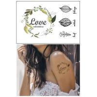 China Custom Made Colorful Body Tattoo Stickers , Face Fake Tattoo Stickers on sale