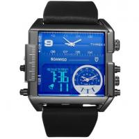 China Wholesale Men Three Time Leather Band Square big dial watch F920 wholesale