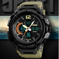 Buy cheap Wholesale Fashion Three Time Men Pu Band Waterproof 50m Chronograph Alarm Outdoor Sport Wrist Watches 1343 from wholesalers