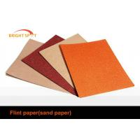 China Red Flint Aluminium Oxide Abrasive Paper Removing Paint For Furniture Industry wholesale
