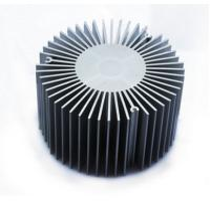 China Led Aluminium Heatsink Extrusions , Silvery / Black Anodized Extruded Aluminium Profiles wholesale