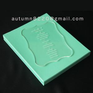 China B IC (2) special design acrylic wedding invitation card wholesale