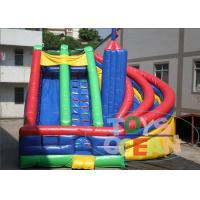China Customize 0.55mm PVC Inflatable Water Slide For Amusement Park 2 Years Warranty wholesale