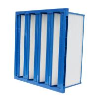 China Plastic Frame V Bank Pocket Air Filter H10 Hepa Filter With High Air Volume wholesale