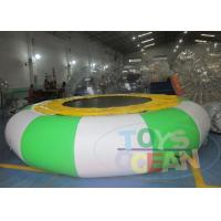 China Colorful Happy Hop Inflatable Water Trampoline / Green Inflatable Water Jumping wholesale