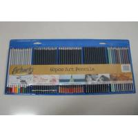 China 60 colored artwork drawing colored pencil set, stationery pencil set wholesale