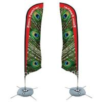 China Durable Double Sides Advertisement Beach Flag Banner Dye Sublimation Printing wholesale