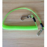 Safety lanyard spring coil cable heavy duty hook good strong stainless steel wire coil