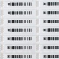 China QIDA Anti Theft Label For Valuables With Barcode And Blank Variety Dimension Mini Delta Tag wholesale