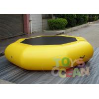 China Customzied Yellow Inflatable Trampoline Combo For Water Sports wholesale