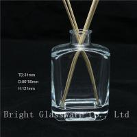 China high quality square empty aroma reed diffuser bottle with reed sticks sale wholesale
