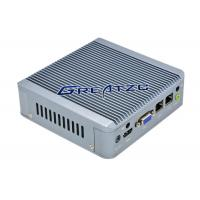China 2 RJ45 Fanless Industrial Pc , Dual Core CPU J1900 Embedded PC wholesale