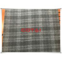 China Black and Gray One side Thin Melton 7cm Tartan Wool Fabric , Width 150cm wholesale