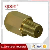 """China Anodized Aluminum Gold Turbo Oil Feed Restrictor Fitting NPT T3 T4 T0 1/8"""" NPT wholesale"""
